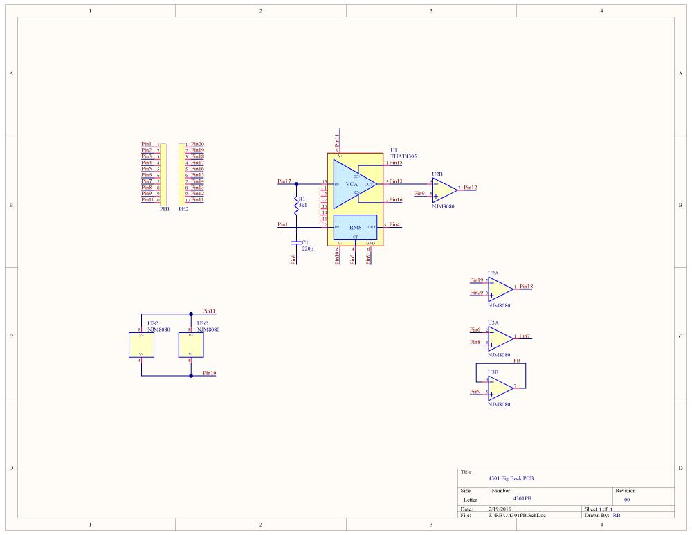 THAT4301 schematic